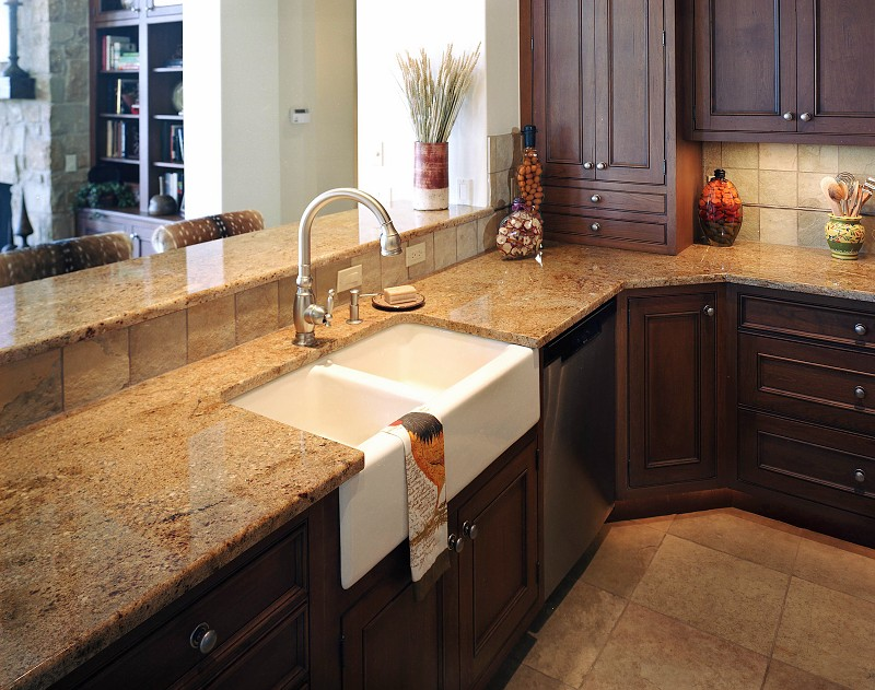 Tile Countertops For Kitchens : Natural stone kitchen countertops granite counters