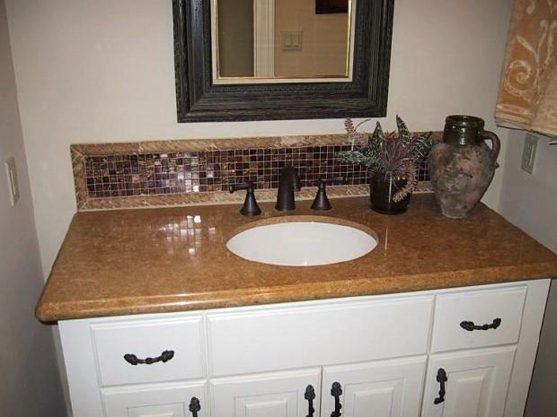 Soapstone bathroom countertops granite stone backsplashes for Bathroom granite countertops